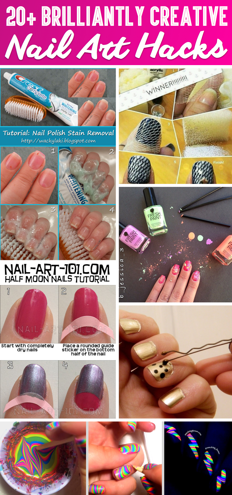 20+ Brilliantly Creative Nail Art Hacks That Are Pure Genius – Cute ...