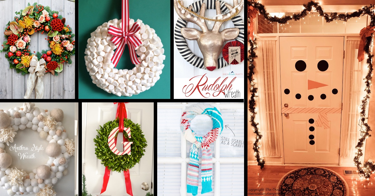 39 breathtaking diy christmas door decorations in 2015 - Cute Diy Christmas Decorations