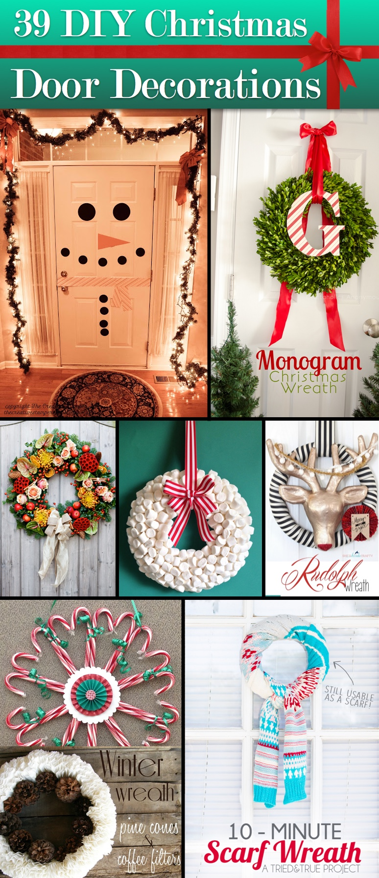39 breathtaking diy christmas door decorations that truly scream merry xmas
