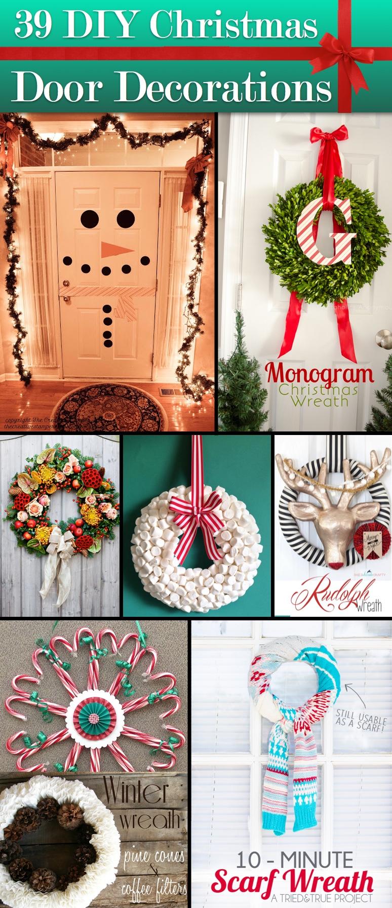 Christmas Door Decorations.39 Breathtaking Diy Christmas Door Decorations In 2015