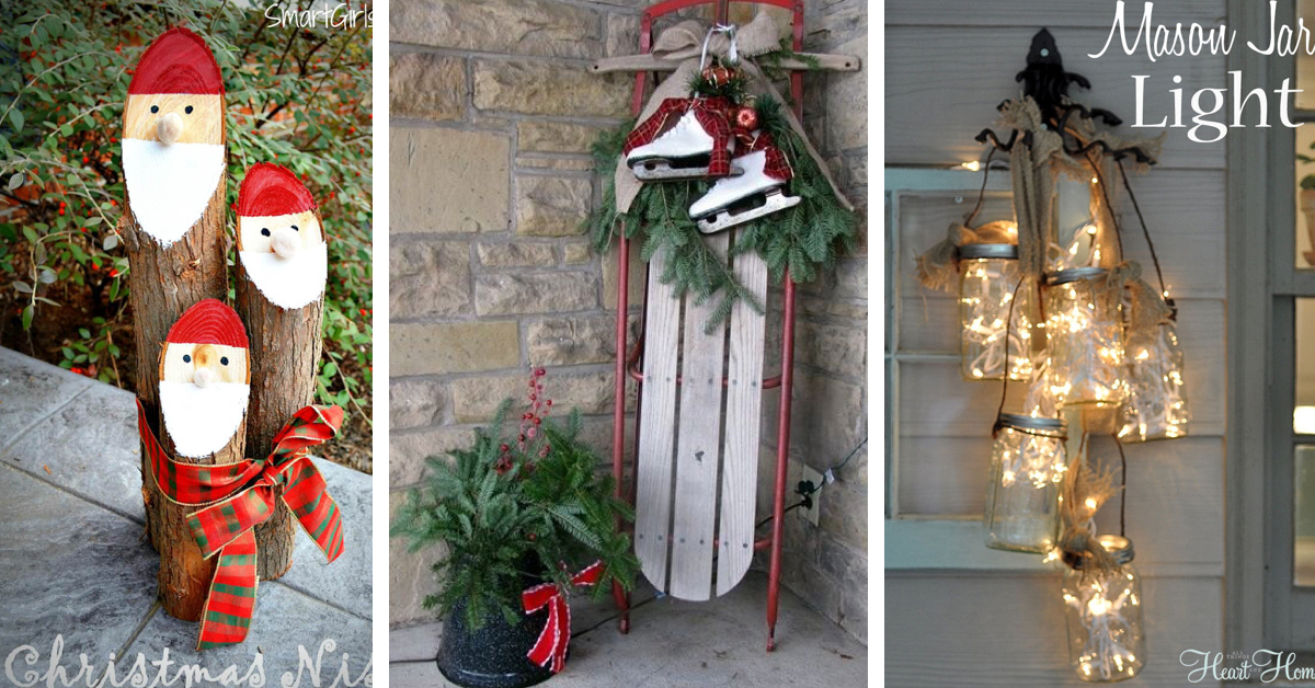 40 gorgeous christmas porch decorations transforming your entryway cute diy projects - Entryway Christmas Decorations