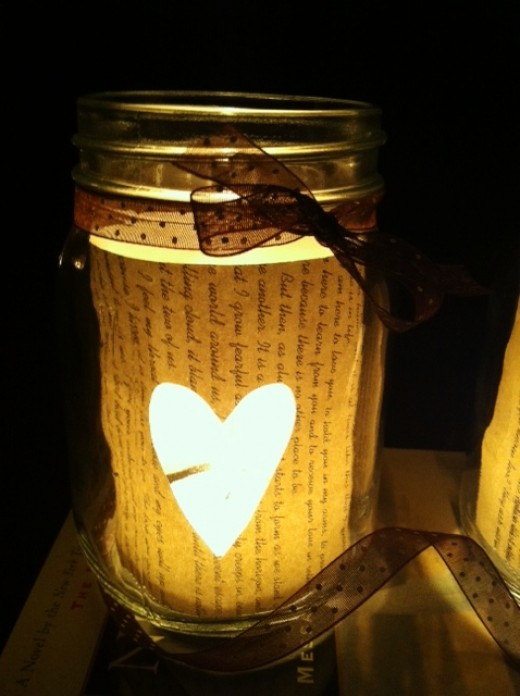 Diy Book Page Mason Jar Candle Holders Cute Diy Projects