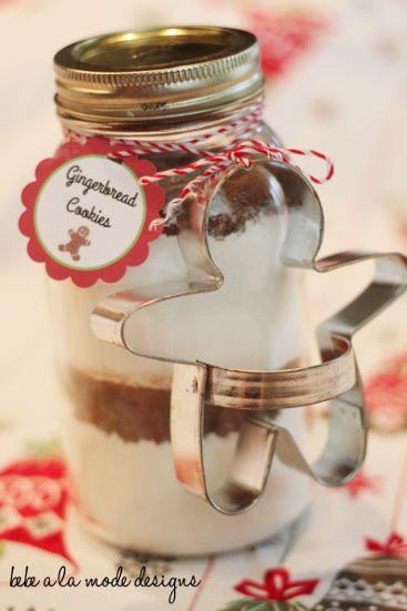 Cake Mix In Glass Jars