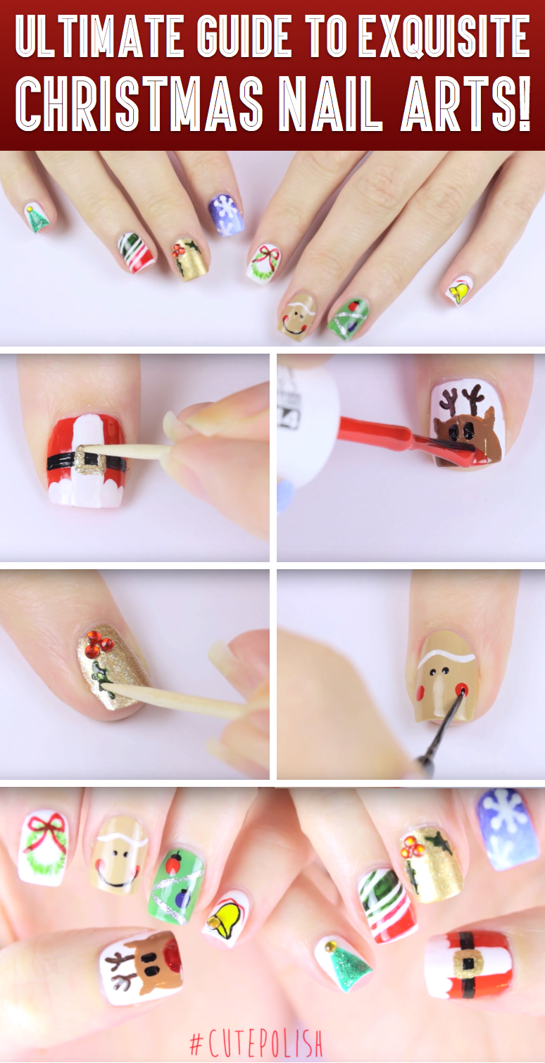 Here is Your Ultimate Guide To Exquisite Christmas Nail Arts! – Cute ...