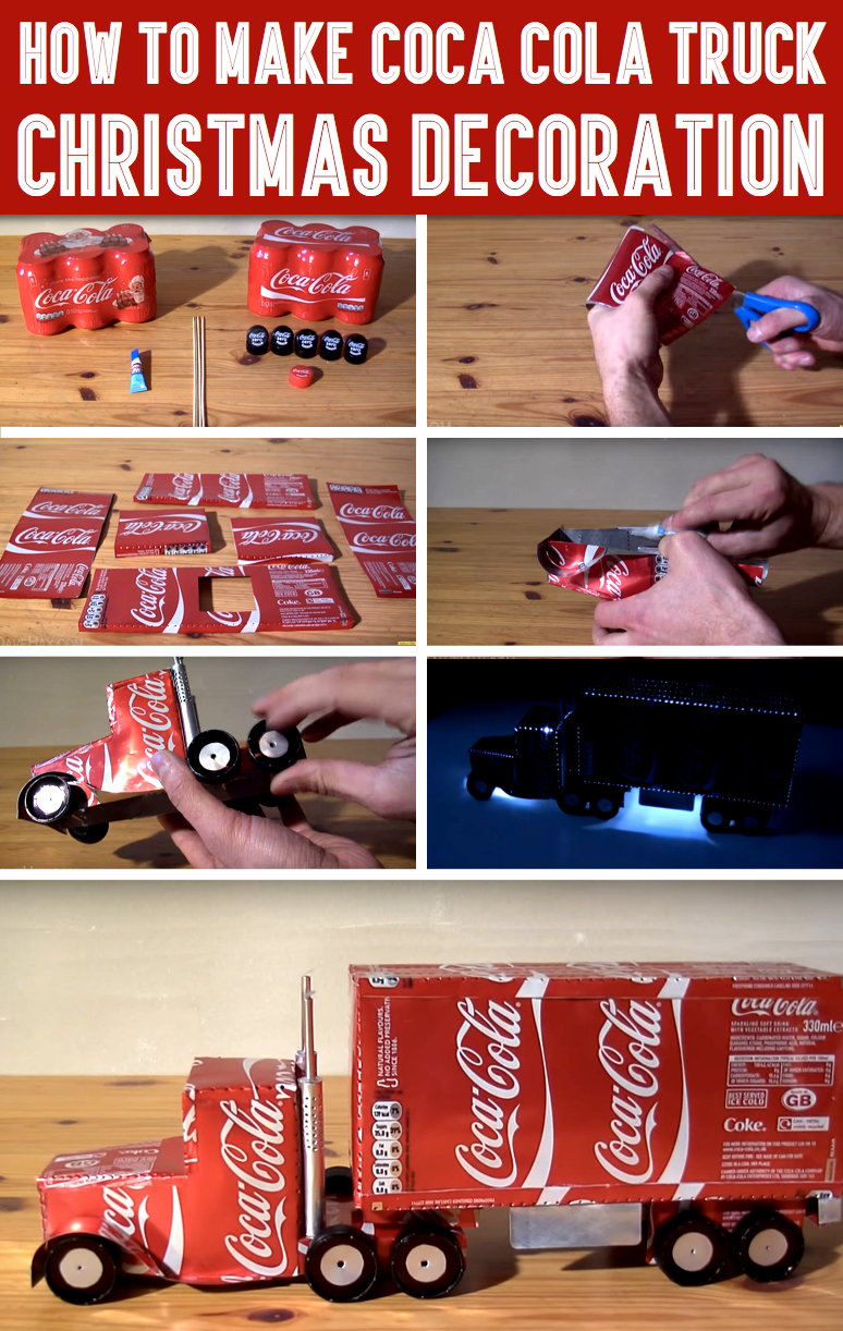How To Make Coca Cola Truck Christmas Decoration – Cute DIY Projects