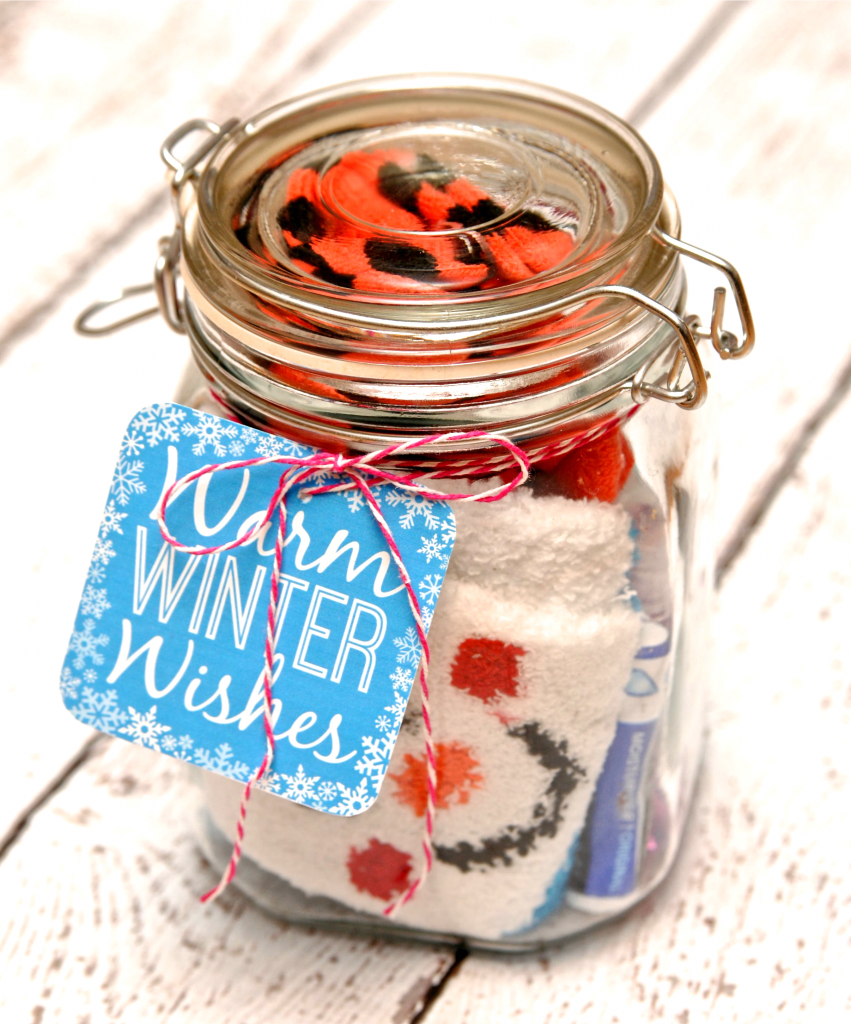 Winter Survival Kit In a Jar