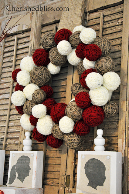 Yarn Ball Wreath Tutorial