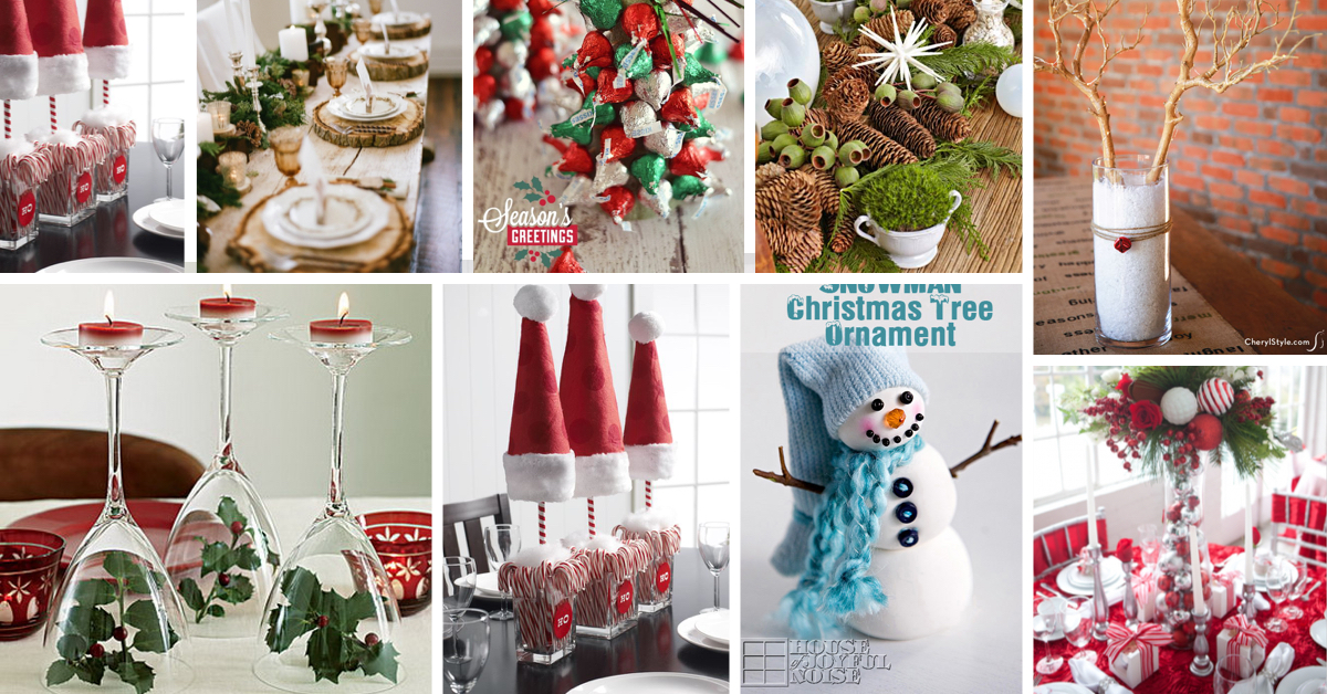 42 stunning christmas table decorations - Cheap Christmas Table Decorations