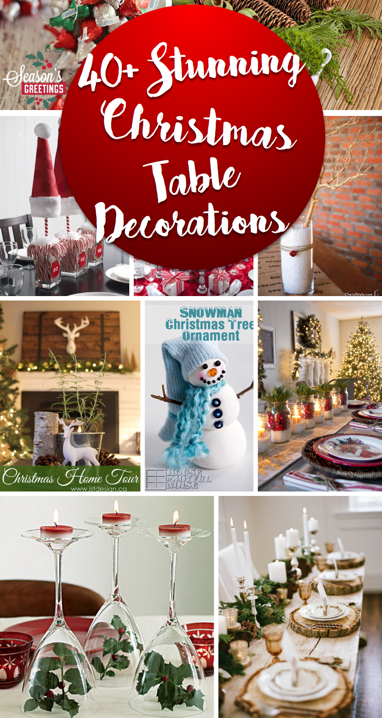 40 stunning christmas table decorations making your celebrations a treat to remember - Homemade Christmas Table Decorations