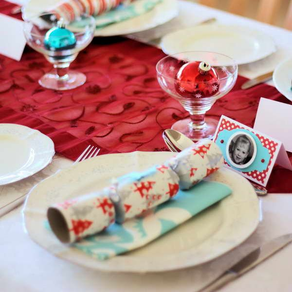 Bright Party Time Christmas Tablescape
