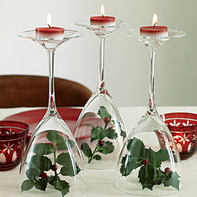 christmas dining table decoration cheap and easy - Homemade Christmas Table Decorations