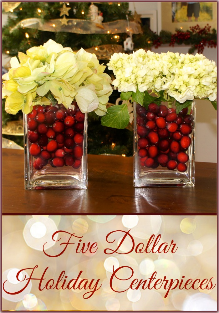 Five Dollar Holiday Centerpieces