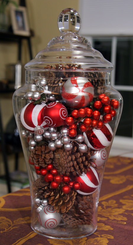 Glass Jar : Easy Holiday Centerpiece