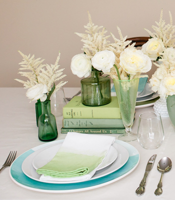 Ombre Dip Dyed Napkins