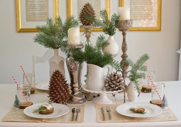 Rustically Wintertime Christmas Tablescape