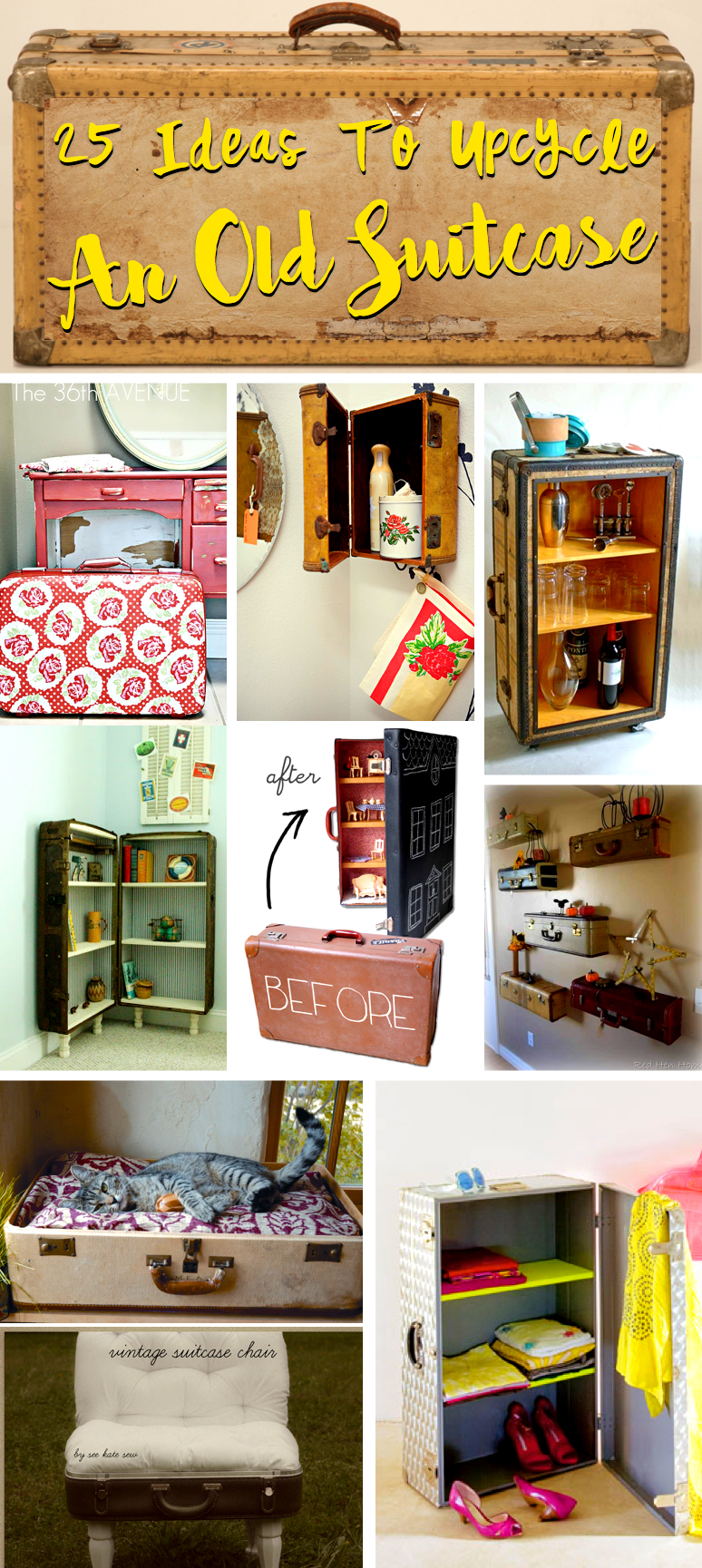 diy garage makeover ideas - 25 Incredible Ideas To Upcycle An Old Suitcase Almost