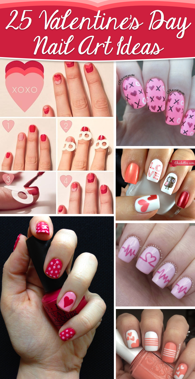 Valentine day nail art pictures best nails 2018 25 valentine s day nail art ideas working as a wonderful reminder prinsesfo Images