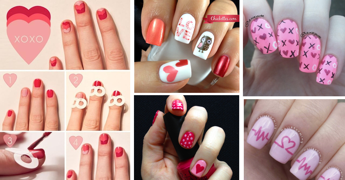 25 Valentines Day Nail Art Ideas Working As A Wonderful Reminder Of Love Cute DIY Projects