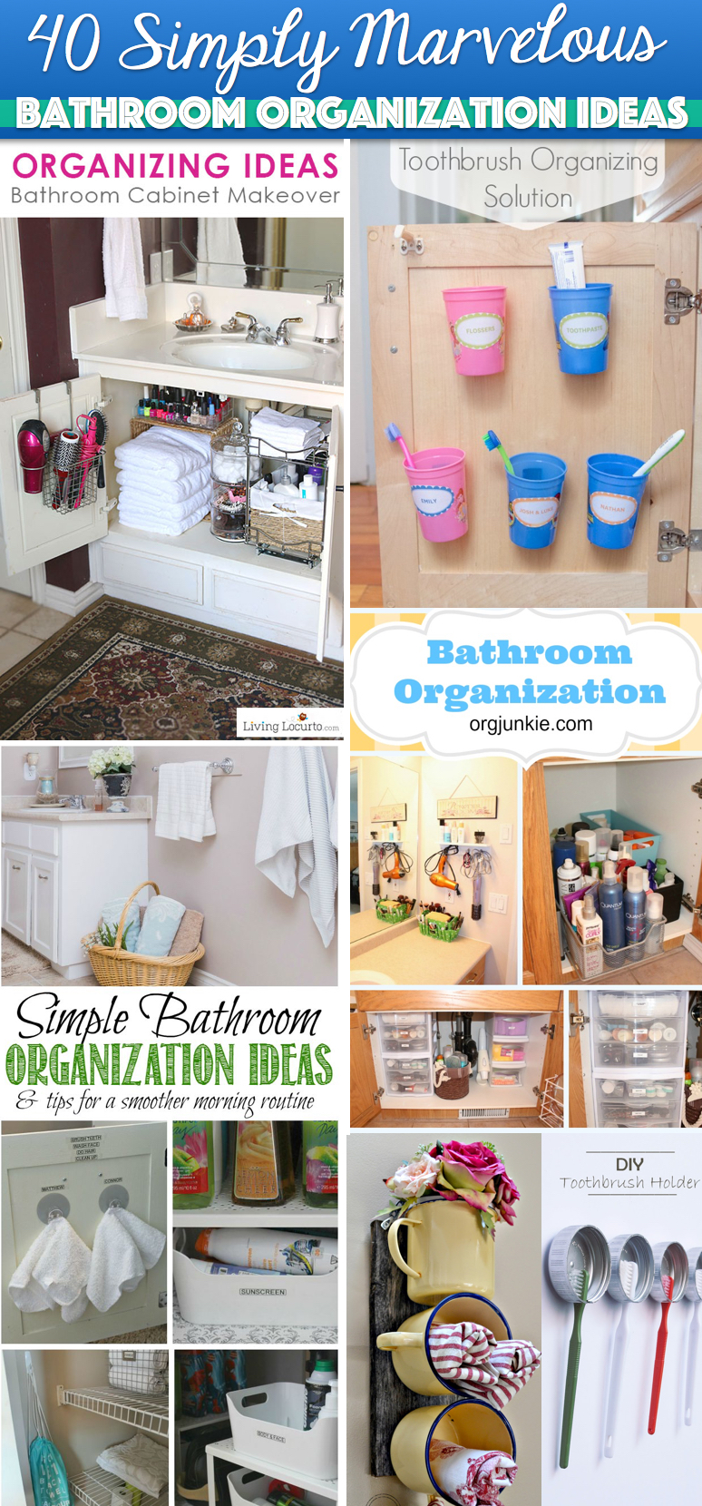 40 Simply Marvelous Bathroom Organization Ideas To Get Rid