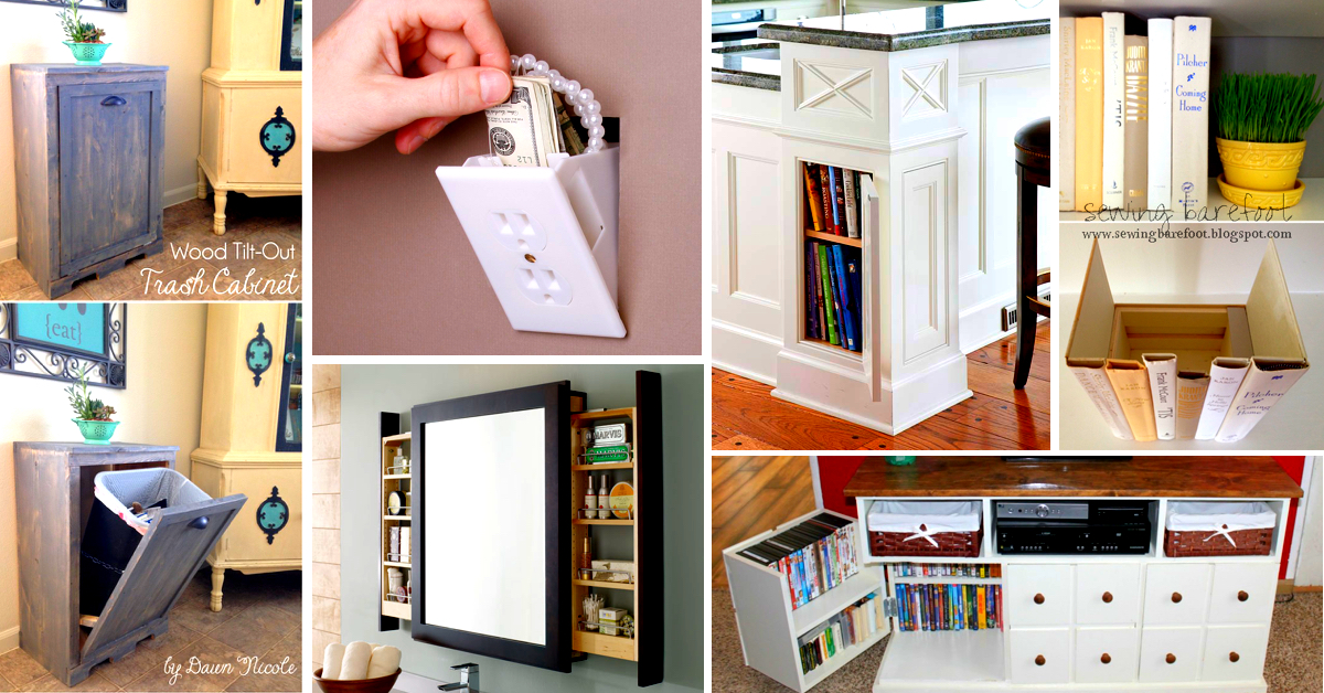 41 mind blowing hidden storage ideas making a clever use of your household space cute diy - Insanely easy clever diy projects home ...