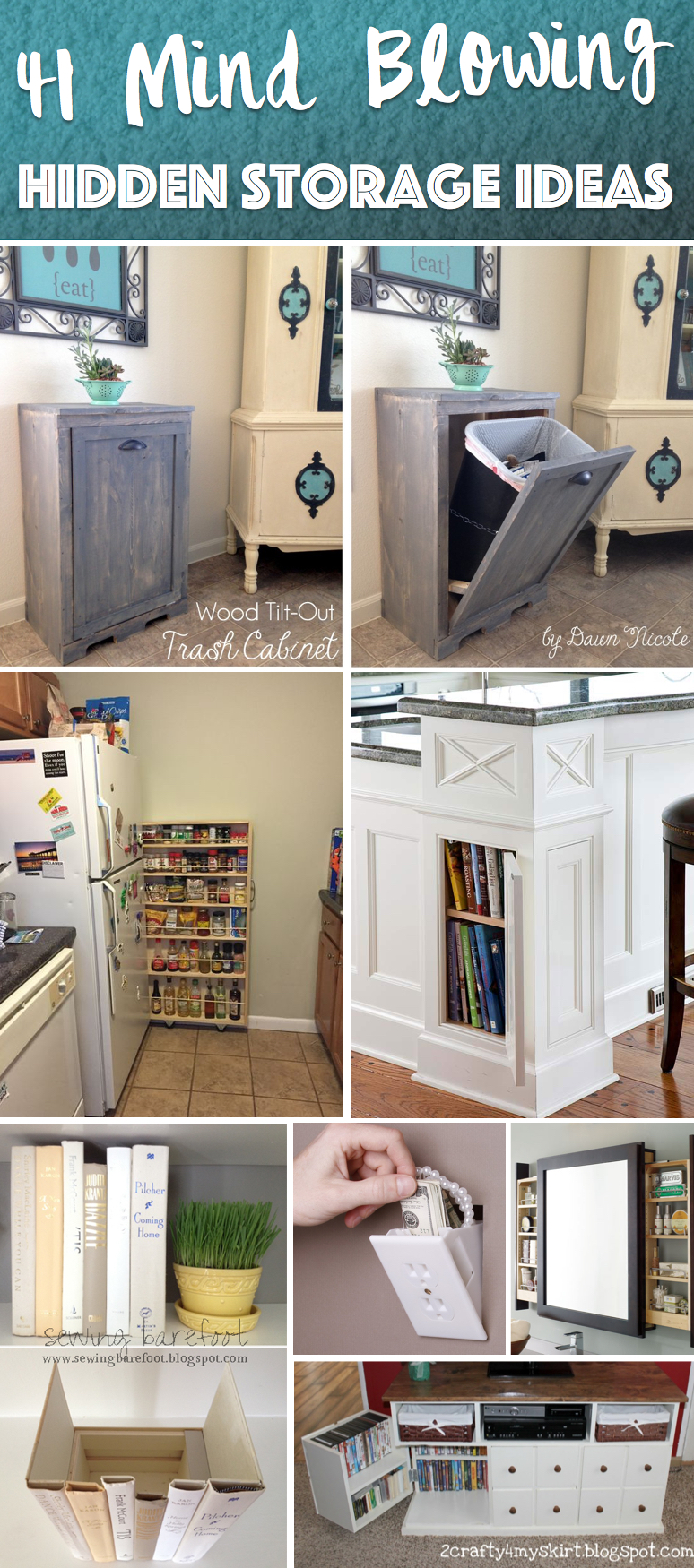 41 mind blowing hidden storage ideas making a clever use for Hidden kitchen storage ideas