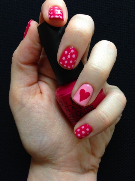 25 valentines day nail art ideas working as a wonderful reminder of cute simple valentines day nails solutioingenieria Choice Image
