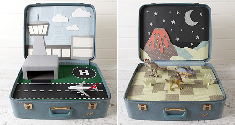 Old Fashioned Childrens Suitcases
