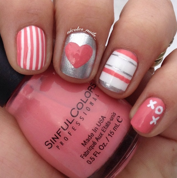 25 Valentine\'s Day Nail Art Ideas Working as a Wonderful Reminder ...