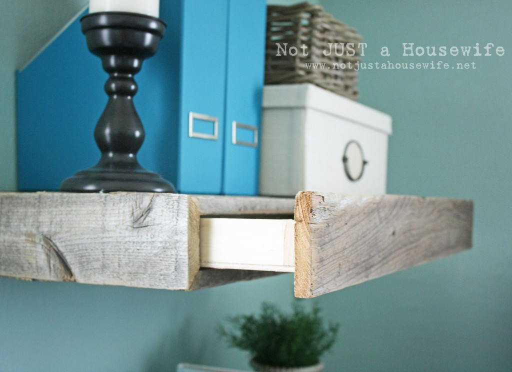 Floating Wood Shelves ~ Mind blowing hidden storage ideas making a clever use