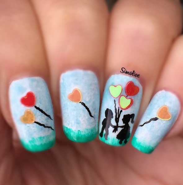 Romantic Scene Nails