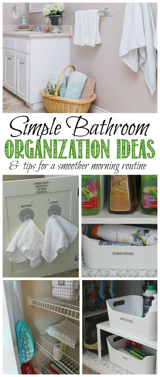 Simple Bathroom Organization Ideas