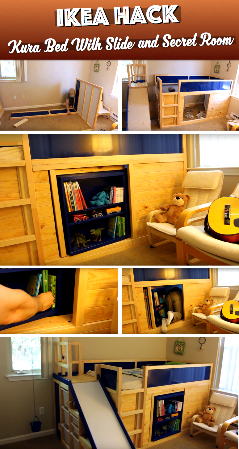 This Dad Transforms Ikea Furniture Into A Stunning Multipurpose Kid S Bed Cute Diy Projects