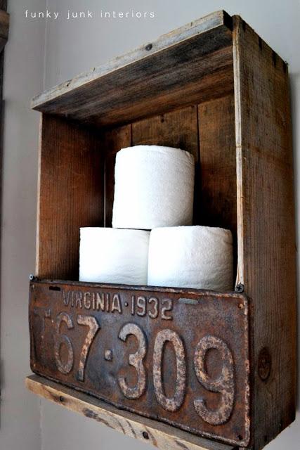 Vintage Toilet Paper Crate