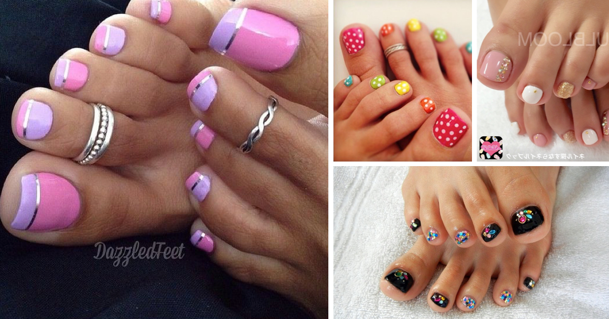 44 easy and cute toenail designs for summer cute diy projects - Toe Nail Designs Ideas