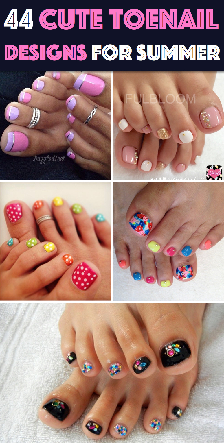 44 easy and cute toenail designs for summer - Toe Nail Designs Ideas
