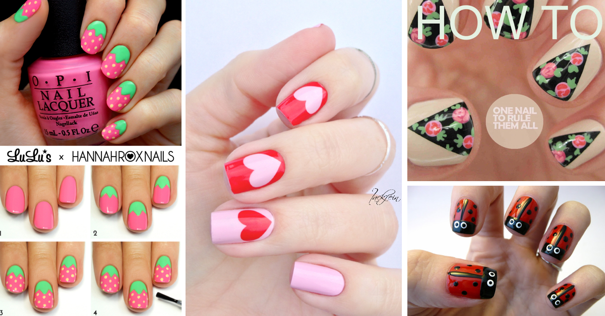 50 cute cool simple and easy nail art design ideas for 2016 - Nail Design Ideas Easy