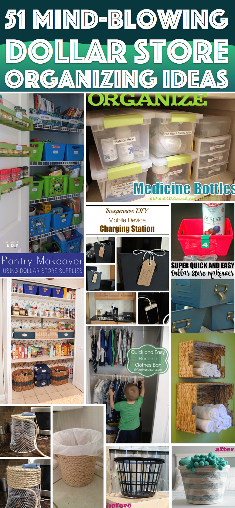 51 mind-blowing dollar store organizing ideas to get your home a