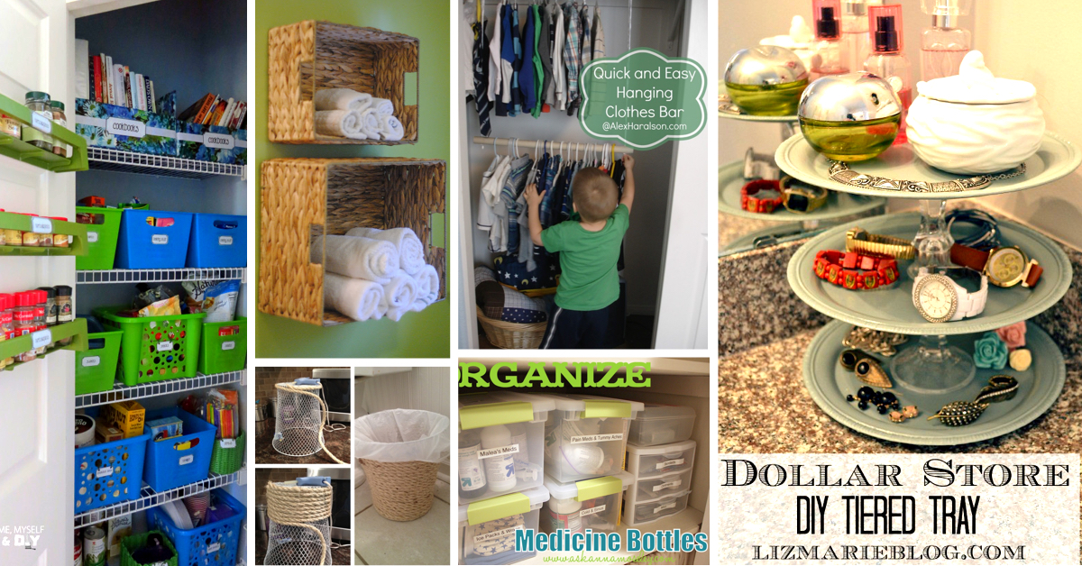 51 Mind Blowing Dollar Store Organizing Ideas To Get Your Home A Complete Makeover Cute Diy Projects