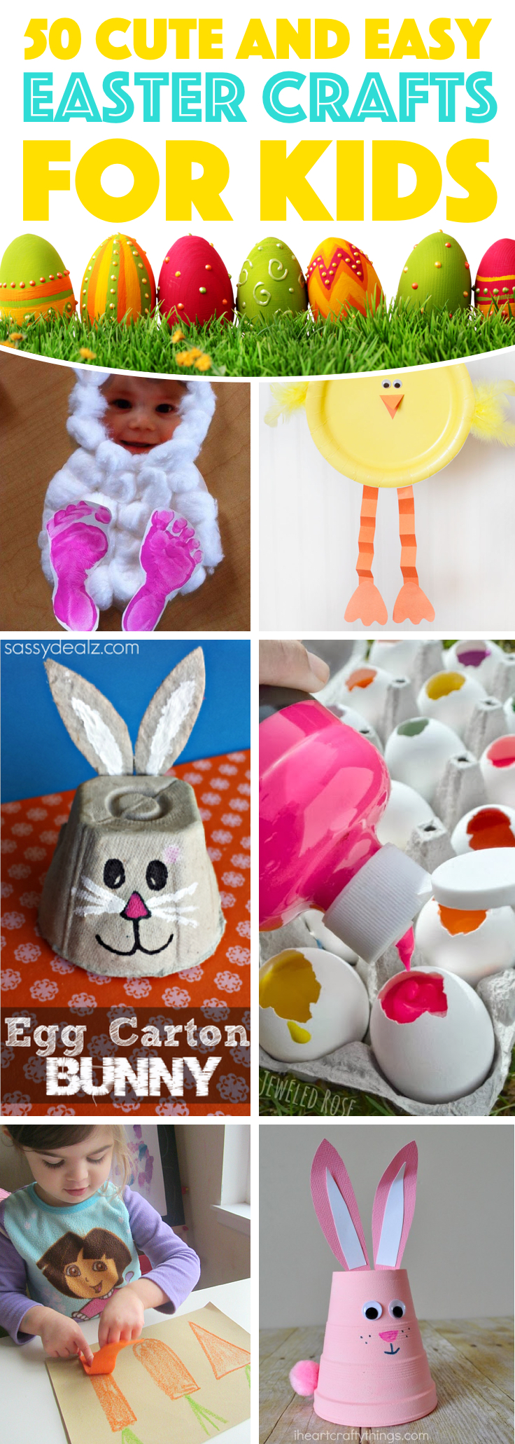 32+ Cute and Creative Easter Crafts For Kids in 32
