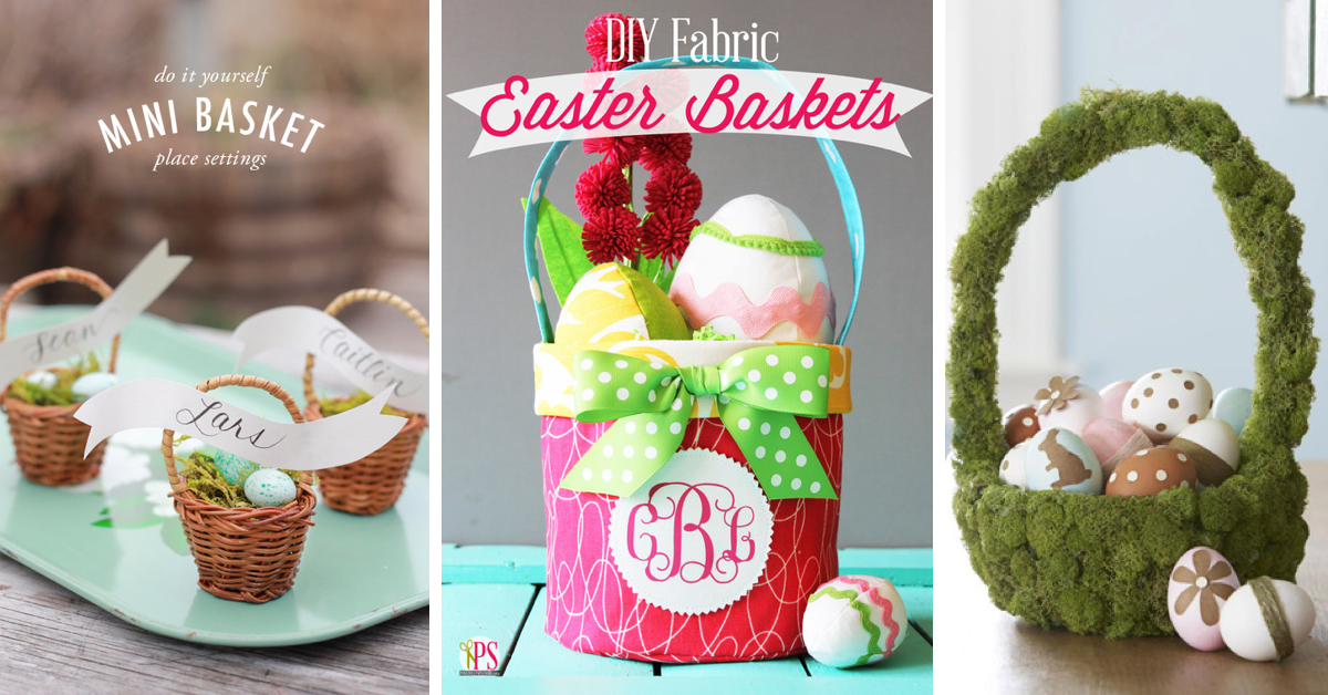 60 diy easter basket ideas for 2017 negle Gallery