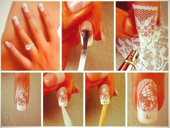Lace Nail Design – DIY