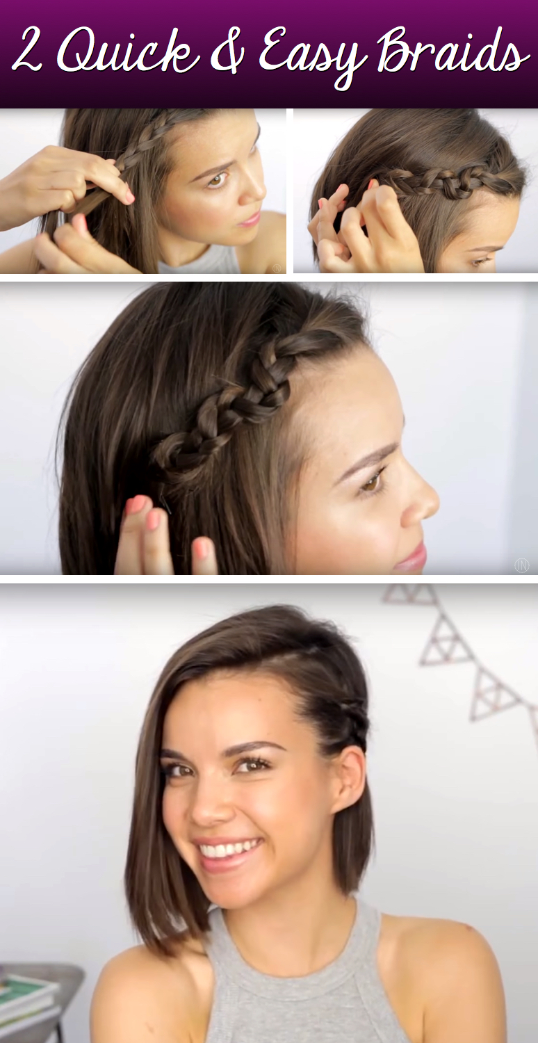 Make your Chopped Locks Dazzle With These Gorgeous yet Simple Short Hair Braids!
