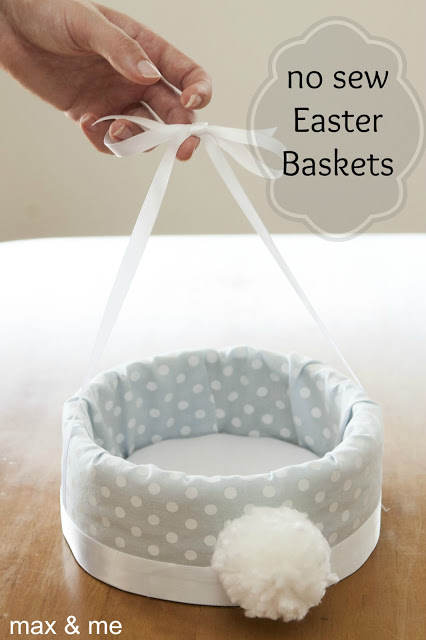 60 diy easter basket ideas for 2017 no sew easter basket negle Image collections