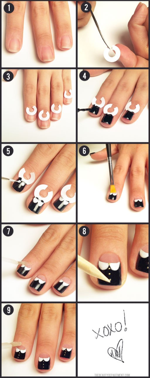 Diy Nail Design Tools-Peter Pan Collar Nails