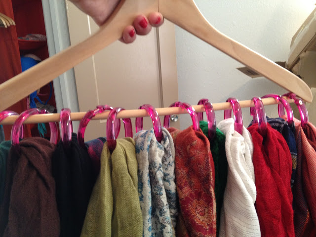 Pinterest Project Scarf Organization