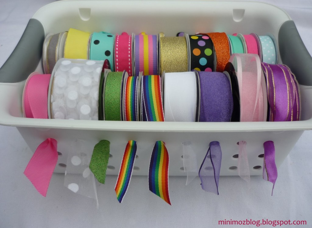 Ribbon Basket Storage DIY