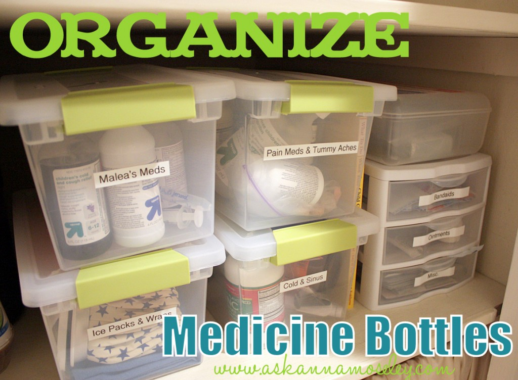 The Easiest way to Organize Medicine Bottles
