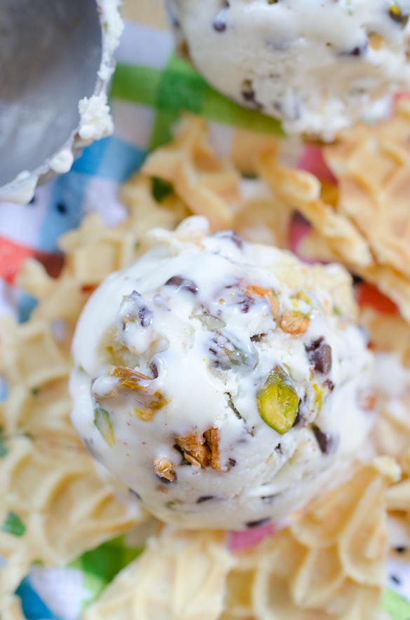 Cannoli Ice Cream - No Ice Cream Maker