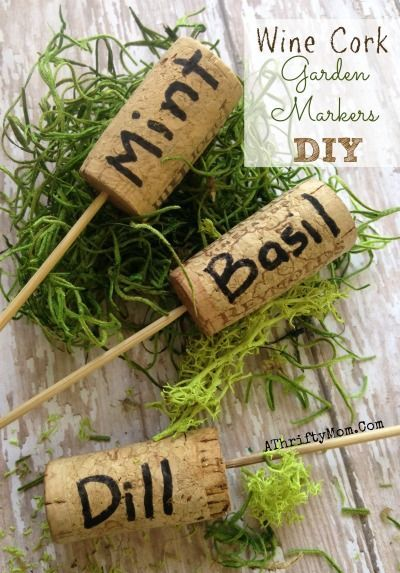 DIY Garden Markers with Wine Corks
