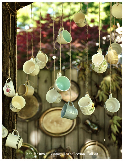 Vintage Tea Themed Garden